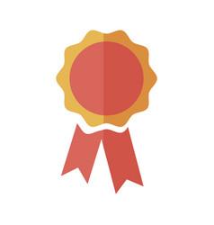 rosette award ribbon banner decoration icon vector image vector image