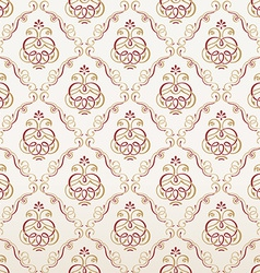 Seamless florals wallpaper vintage background vector