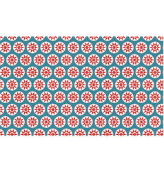 Seamless pattern stars in circles vector