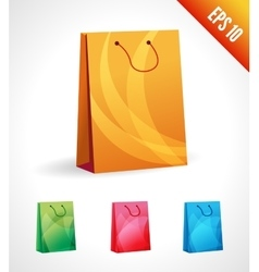Set of a shopping bag vector image vector image