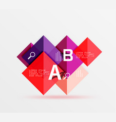 Square banner vector