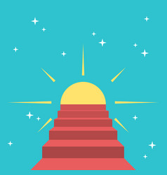steps to sun vector image