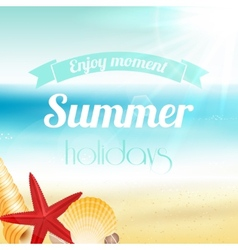 Summer holiday vacation poster vector image vector image