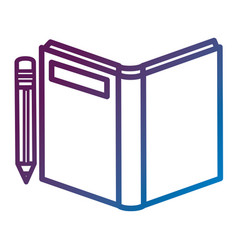 text book school with pencil vector image