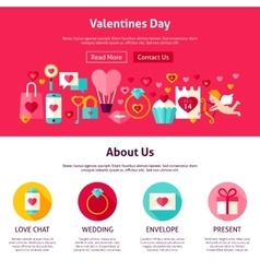 Valentine day web design vector