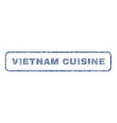 Vietnam cuisine textile stamp vector