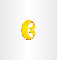 Yellow b letter logotype logo b icon vector