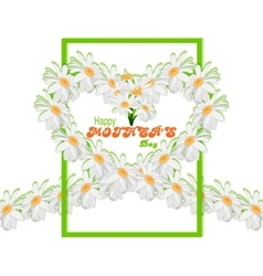 Happy mothers day background tape from daisies in vector