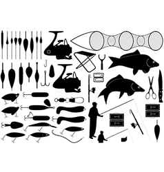 Fishing tools vector