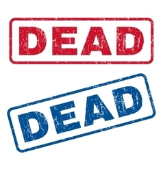 Dead rubber stamps vector