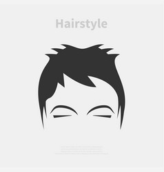 hairstyle icon vector image