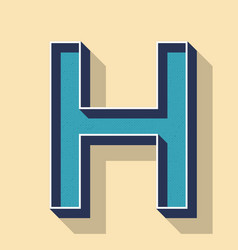 Letter h retro text style fonts concept vector