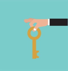 key in hand vector image