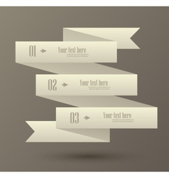 Set of numbered banner vector
