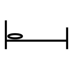 Simple bed icon vector