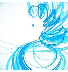 Blue abstract spiral background vector image