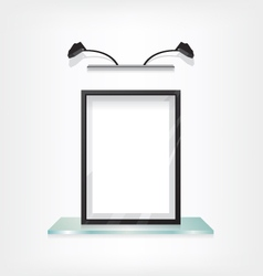 Black frame on glass shelf vector