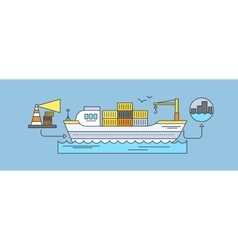 Concept of freight forwarding by sea vector