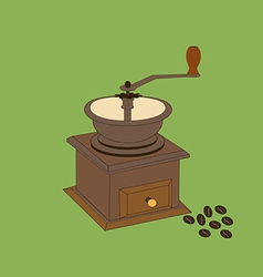 Manual coffee grinder mill vector
