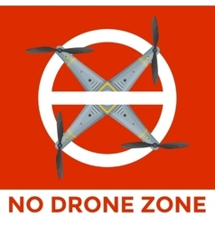 Drone prohibited sign vector