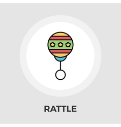 Rattle flat icon vector