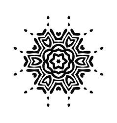Abstract black tribal ornament vector image