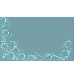 Blue frosty pattern vector