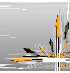 abstract arrow background vector image vector image
