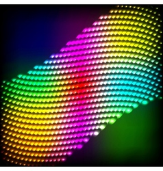 Abstract spectrum dark background with colored vector
