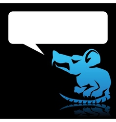 Angry Rat Speech Bubble vector image vector image