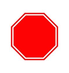 Blank stop traffic warning road sign Prohibition vector image vector image