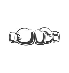 boxing gloves punching each other icon vector image