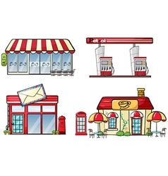 Business establishments vector