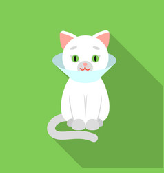 Cat sick icon in flate style isolated on white vector