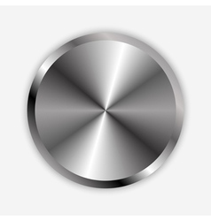 chrome knob vector image vector image