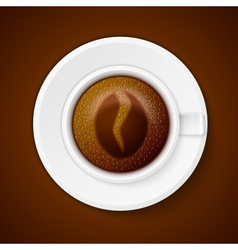Cup of coffee with Coffee symbol vector image vector image