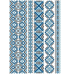 Ethnic embroidery seamless floral pattern vector image