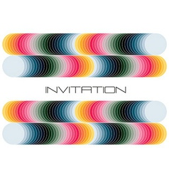 geometric colorful invitation vector image vector image