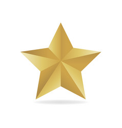 Gold metall star award 3d vector