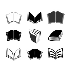 Graphical books icons vector image vector image