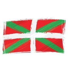 Grunge basque country flag vector