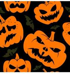 halloween seamless wallpaper vector image vector image