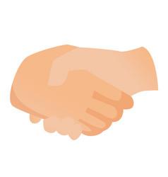 Handshake cartoon vector