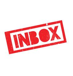 Inbox rubber stamp vector