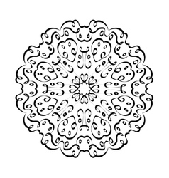 mandala arabic1 vector image vector image