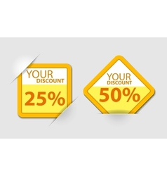 Orange discount vector image vector image
