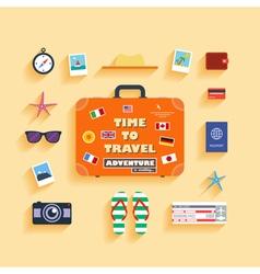 planning summer vacation vector image
