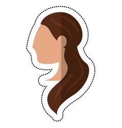 profile bride woman style vector image