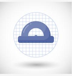 Protractor flat icon vector