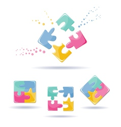 Puzzles Set vector image vector image